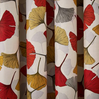 CLARISSA HULSE Ginko Spice curtains detail