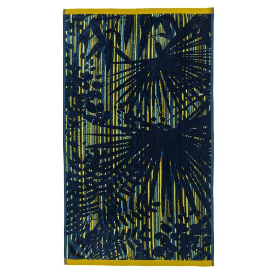 CLARISSA HULSE Rainforest Blue towel flat co