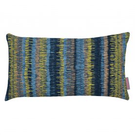 Goosegrass collection cushion - blue / mustard