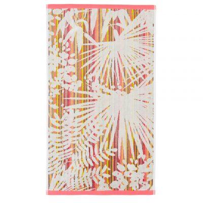 Rainforest towel - pink / mustard