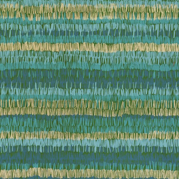 Textured Stripe silk fabric - moss