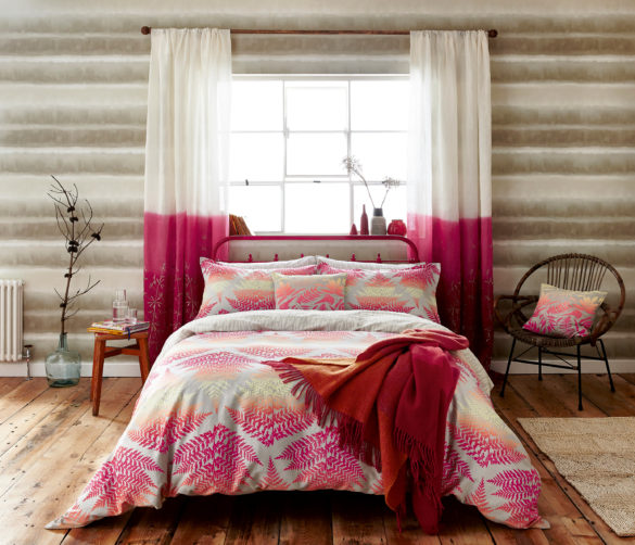 Filix bed linen set - coral