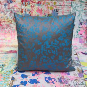 Cushion 83 - silk - 40 x40cm - mstorm kingfisher