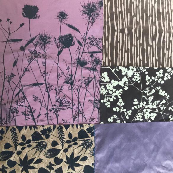 Fabric bundle 155 - 161 - midnight lilac 2
