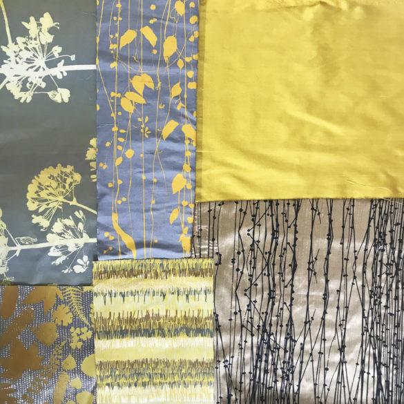 Fabric bundle 173 - 176 - turmeric storm