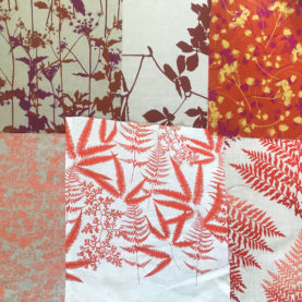 Fabric bundle 202 - 205 - red