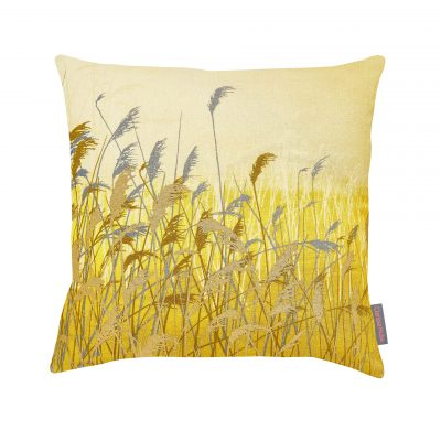 CLARISSA HULSE Water Reeds Mustard cushion CH web - colour modified
