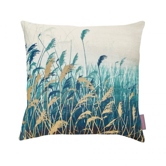 CLARISSA HULSE Water Reeds Teal cushion CH web