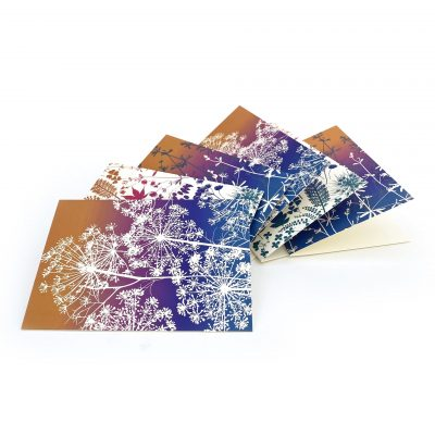 Set of 6 Greetings Cards - iridescent