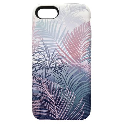 Cloud Forest phone case - blush / grey