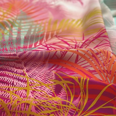 Cloud Forest 90cm square silk scarf - fuchsia pink