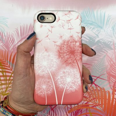 Dandelions phone case - flamingo