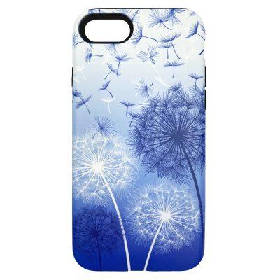 Dandelions phone case - sapphire blue