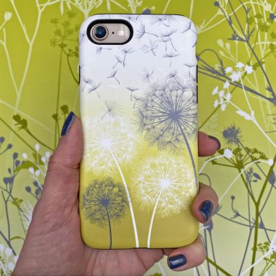 Dandelions phone case - zest yellow