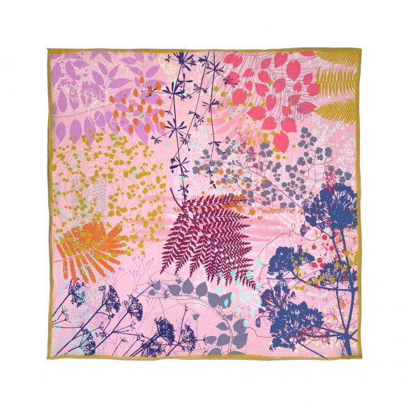 Kismet 67cm square silk scarf - blush pink