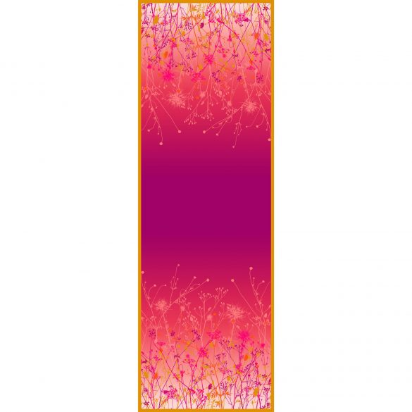 September Meadow oblong silk scarf - fuchsia pink