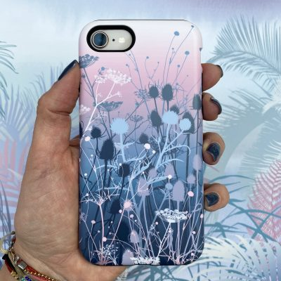 Tania's Garden phone case - blush / grey