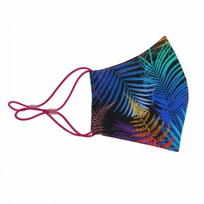 Palm Leaves cotton face mask - rainbow