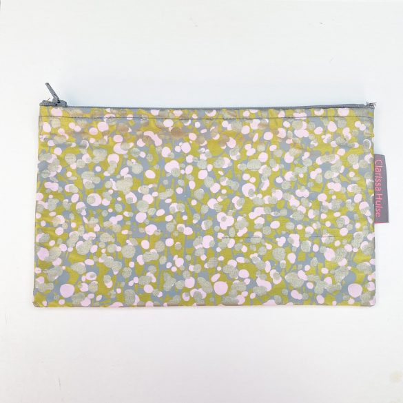 Large make up purse - garland - quince / oyster
