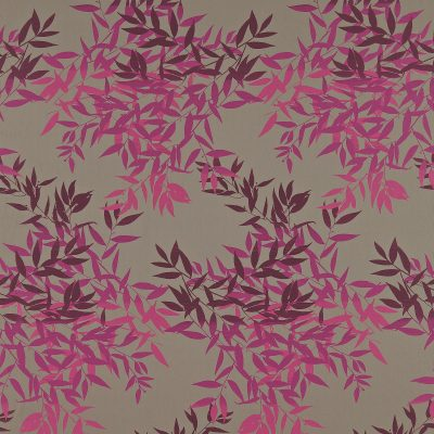 Olea cotton fabric - zinc / magenta (130265)