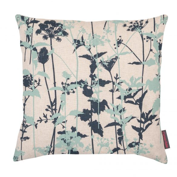 Nettles cushion - natural / duck egg / indigo