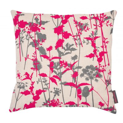 Nettles cushion - natural / neon / zinc