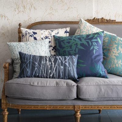Persephone cushion - steel / honeycomb