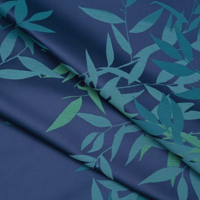 Olea cotton fabric - Navy / Teal (130623)