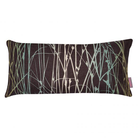 Grasses linen cushion - peat / duck egg / olive