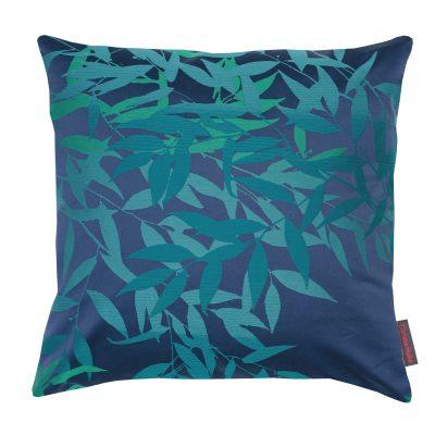 Olea cotton cushion - navy / teal