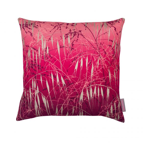 Meadow grass cushion pink gold