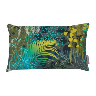 Oasis cotton cushion – evergreen / charcoal