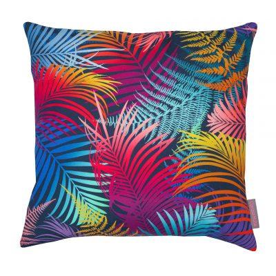 Rainbow palm cushion