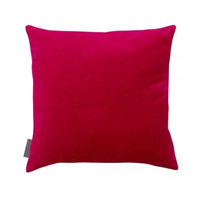 Meadow Grass cotton cushion – fuchsia / soft gold metallic