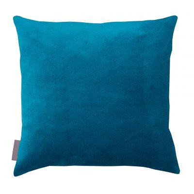 Kingfisher cotton velvet cushion