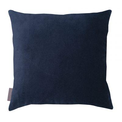 Meadow Grass cotton cushion – midnight / soft gold metallic
