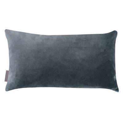 Sword fern cotton cushion – airforce blue / blush