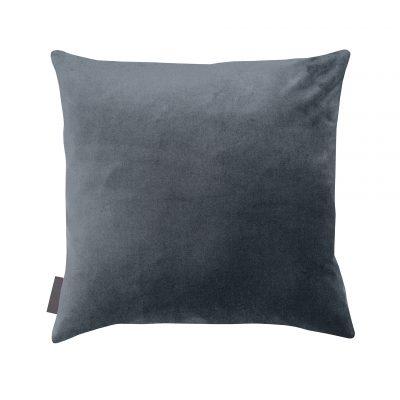 Grey cotton velvet cushion