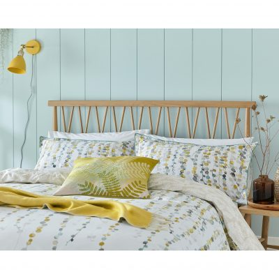 String of beads bed linen set - turmeric