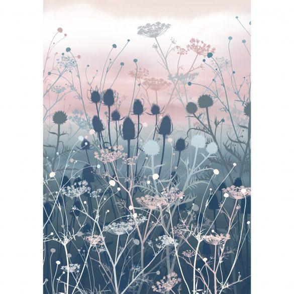 Giclée print - Tania's garden in smoke blue