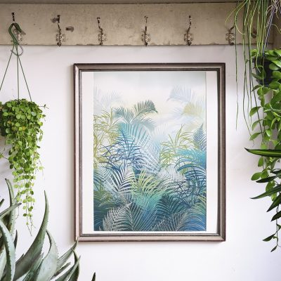 Giclée print - Cloud forest in green