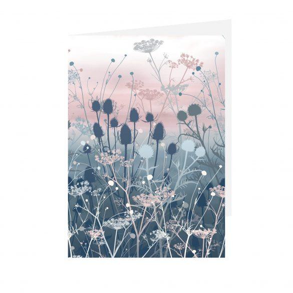 Greetings card - Tania's Garden - Blue