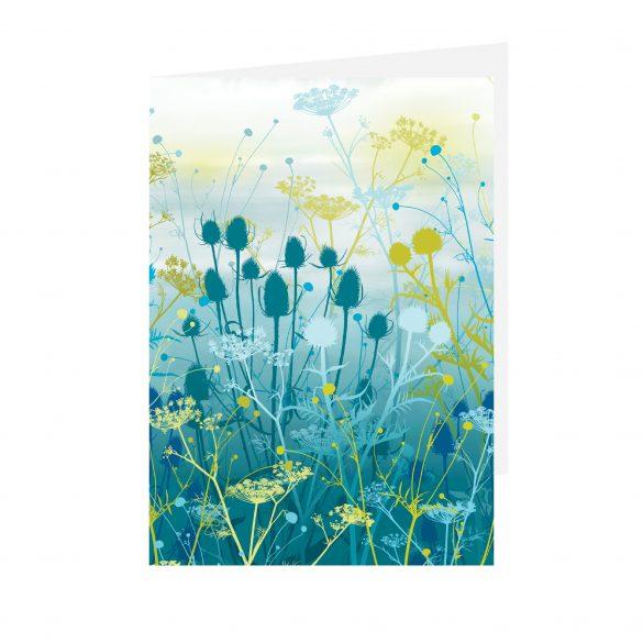 Greetings card - Tania's Garden - Teal